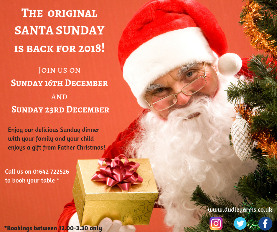 Santa Sunday is back for 2018!